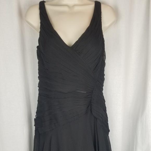 Jouani silk dress size 4 black beaded sequin trim